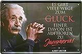 """Blechschilder Albert Einstein Zitat Spruch """"Es gibt viele"""