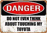 MiMiTee Don't Touch My Toyota Blechschild Vintage Metall