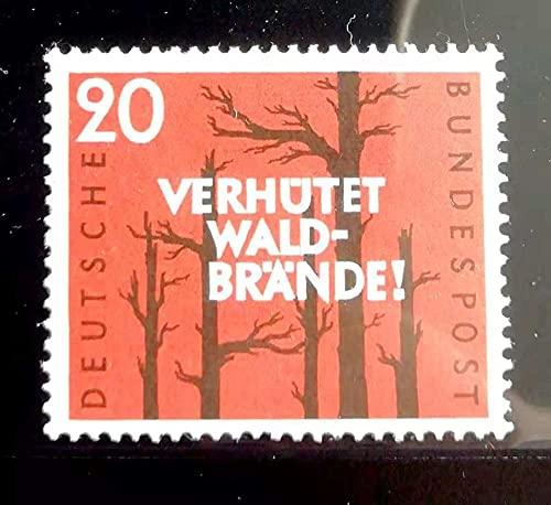FGNDGEQN Colección de Sellos Alemania Stamp 1958 Forest Fire Prevención Fuego Bosque Quemado 1 Nuevo MNH