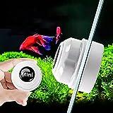 Egurs Mini Limpiador magnético del Tanque de Peces Cepillo del Acuario Limpiador de Vidrio Limpiador de Algas Accesorios del Acuario Herramienta Rojo