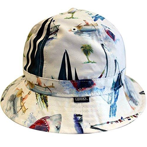 Crooks & Castles Paradise Bucket Hat White Multi