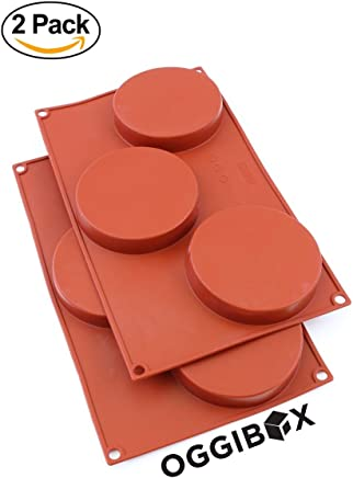 Oggibox 3-Cavity Silicone Disc Mold for Cake, Pie, Custard, Tart and