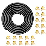 CocoMocart 9.85-Foot Length Stretchy 1/4 Inch ID Fuel Line+20pcs 2/5' ID Hose Clamps for Kawasaki Kohler Briggs & Stratton Small Engines