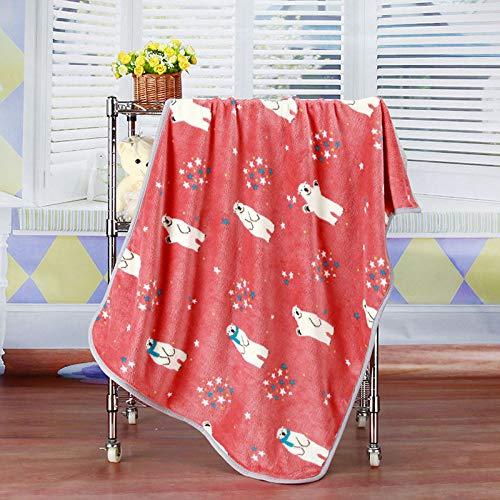 KTUCN Tierbedarf, Winter warmes weiches Haustier Hund Katze Bettdecke Matten, Cartoon Bär Bedruckte Schlafdecke, Rosa, 100x73cm