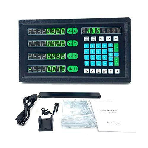 DOMINTY Multifunktion Meßgerät 4 Achse Axis Digitalanzeige ohne Glasmaßstab AC 80V?250V Positionsanzeige für Fräsdrehmaschine CNC-Drehmaschine Gravierfräsmaschinen-Steuerungssystem Werkzeugmaschine