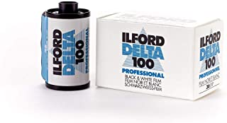 Ilford 1780624 Delta 100 Professional Black-and-White Film, ISO 100, 35mm 36-Exposure