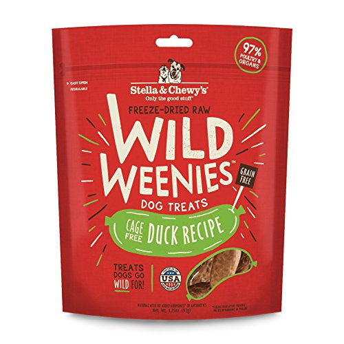 Stella & Chewy's Freeze-Dried Raw Duck Wild Weenies Dog Treats, 3.25 oz bag