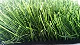 Zen Garden Tall Premium Synthetic Grass Rubber Backed with Drainage Holes, Blade Height 2.4' (60mm), 73 oz/sq. yard, 5 ft x 3 ft