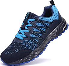 UBFEN Running Shoes for Mens Womens Sports Shoes Casual Footwear Walking Fitness Jogging Athletic Indoor Outdoor Fashion Sneakers 12.5 Women/11 Men C Blue