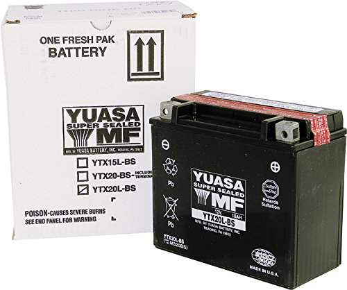 Yuasa Maintenance Free Battery YTX20L-BS YUAM320BS (PLT-120)