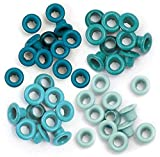We R Memory Keepers 0633356415770 Eyelets & Washers Crop-A-Dile-Standard-Aqua (60 Piece)