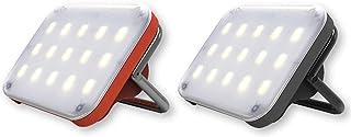 Prism クレイモア CLAYMORE ウルトラミニ LED ランタン (ダークグレイ&レッドペアセット)USB充電式 SOS発信機能 三段階調色 ULTRA mini DARKGRAY & RED LED ライト CLC-400DG / C...