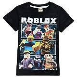 Camiseta Roblox de algodón transpirable para juegos en familia, juegos en equipo para niños y niñas, parte superior de pijama Negro Black2 7-8 Años