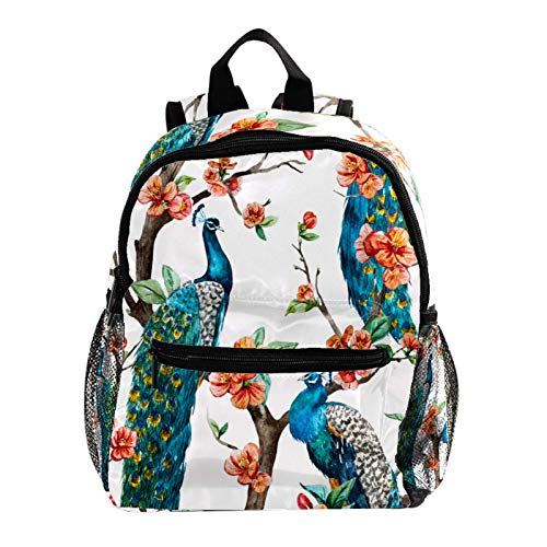 Backpack Multifunction Trekking Daypacks School Backpack Outdoor Sports Bookbag,Peacock Stand Branches Bloomming Flower