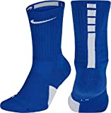 Nike Elite Basketball Crew Socks Large (Fits Men Size 8-12, Women Size 10-13) SX7626-463 Royal, White