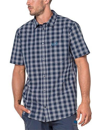 Jack Wolfskin Camicia Hot Springs, Uomo, 1402331, Night Blue Checks, S