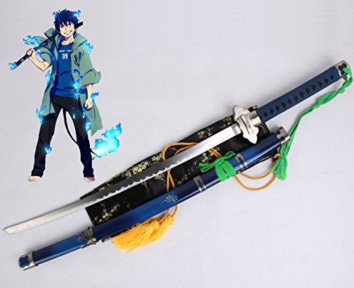 Dream2reality Cosplay Ao no Exorcist Okumura Rin Kriss Replica Spada Piano in acciaio al carbonio Mass producted Katana