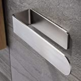 Materials: SUS 304 stainless steel brushed , corrosion protection and rust-free. Self-adhesive towel rack: Just peel off the protective film and stick it on a smooth surface.(must be a smooth surface, such as tiles, glass, metal surfaces, etc., not s...