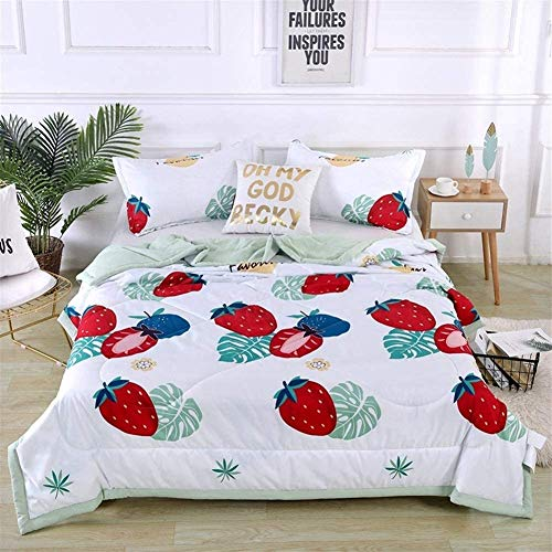 1.5 Tog Double/single Size Softness Antibacterial Machine Washable Quilt Cotton Throws For Sofa Bed Blanket Throw Heart Forest B (Color : C, Size : Double)