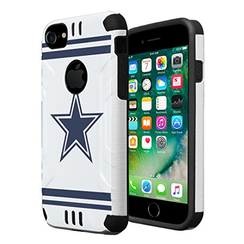 HRWireless iPhone 7 Case, iPhone 6 / 6S Case, Capsule-Case Hybrid Dual Layer Silm Defender Armor Combat Case Brush Texture Finishing for Apple iPhone 7 / iPhone 6S / iPhone 6 - (Cowboy)