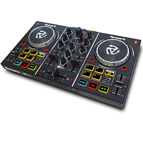 Numark Party Mix - Controlador de DJ plug-and-play de 2 canales para...