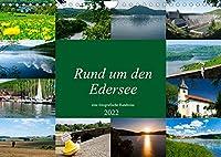 Rund um den Edersee (Wandkalender 2022 DIN A4 quer): Eine fotografische Reise rund um den Edersee bei Waldeck. (Monatskalender, 14 Seiten )