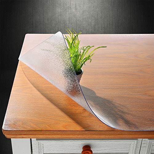 WUJIANCHAO Tischschutz Geruchlos Weichglas Kunststoff PVC wasserdichte Tischdecke 1,5 mm rutschfeste Tischmatte Party Tischdekoration Tischdecken Peeling 1,5 mm 70 * 120 cm