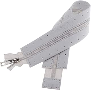 Baoblaze Coil Zipper for Sewing Craft - Leather Rimmed Zipper for Handbag, Purse Making, Garment Accessories - 44cm / 17.32 inch