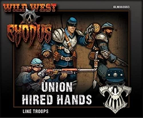 Line Troops Box (Hirot Hands) Union Wild West Exodus by Outlaw Miniatures