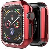 PZZZHF Bling Soft TPU Diamond Bumper Funda Protectora para la Cubierta de la Cubierta del Reloj de Apple 6 SE 5 4 3 2 1 38mm 42mm Casos para iWatch 40mm 44mm