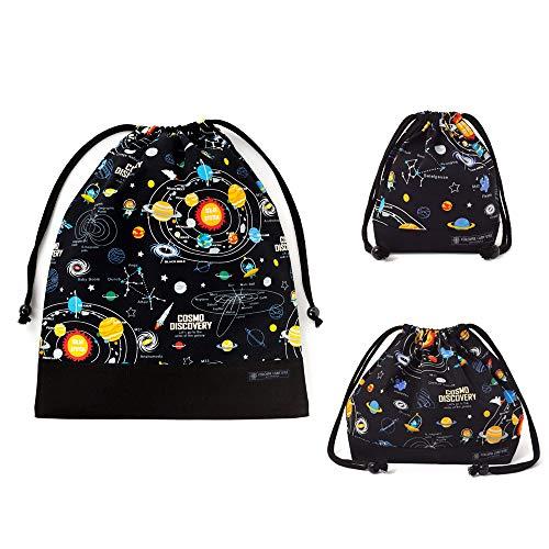 巾着3点セット 太陽系惑星とコスモプラネタリウム(ブラック) N8276200