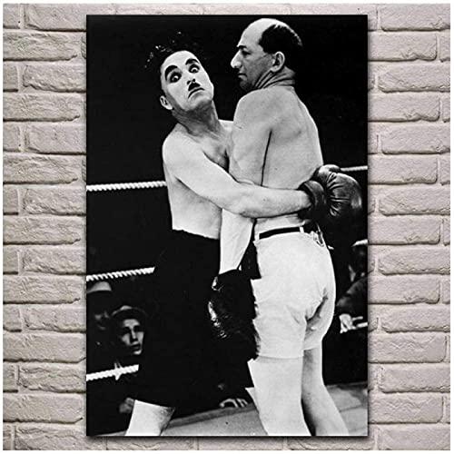 Estilo nórdico 60x80 cm sin marco Sjkkad hobo boxing sport ilustraciones cartel lienzo arte impresión arte de la pared sala de estar decoración de la pared del hogar