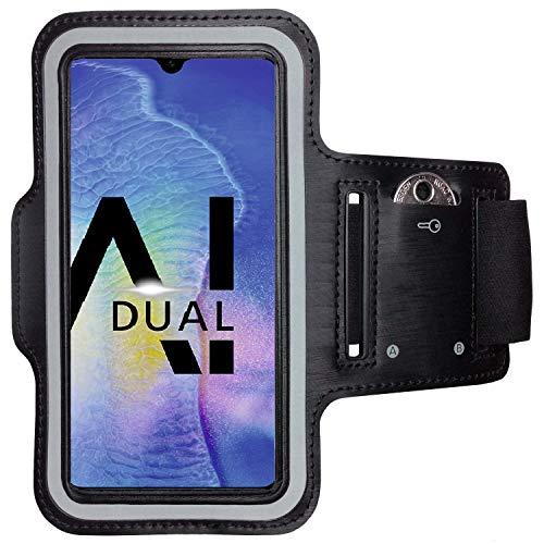 CoverKingz Sac de Bras pour Huawei Mate 20 Pro Sport Brassard, avec Fente pour clé - Étui pour Jogging - Étui pour téléphone, Noir