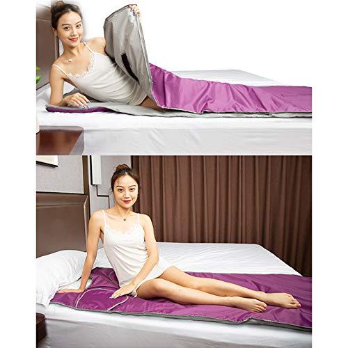 WGIRL Sauna-Decke, Far-Infrar-Sauna-Decke, Digitale Thermische Sauna-Decke Body Shaper, Für Verlustgewicht Und Fitness (Kostenlose Badebeutel 50Pcs),Lila