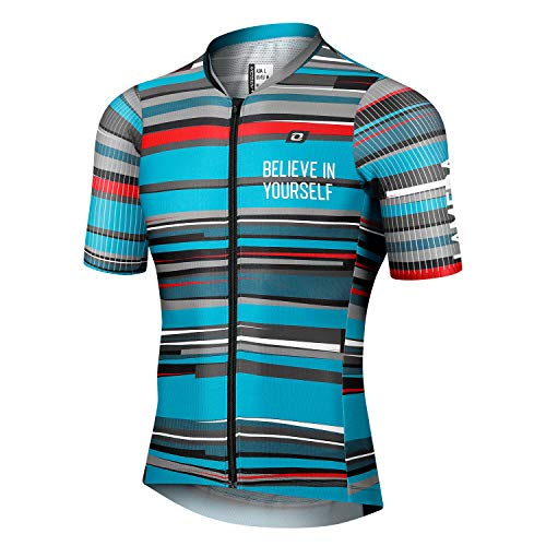 LAMEDA Maillot Ciclismo MTB Hombre Verano Manga Corta 100% Poliéster Camiseta Transpirable...