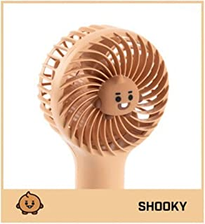 【夏・期間限定】 BT21 ミニ 携帯 扇風機 BT21 Mini Handy Fan 便利 涼しい ストラップ付き Summer ハンディ ファン 〈シュキー・Shooky〉