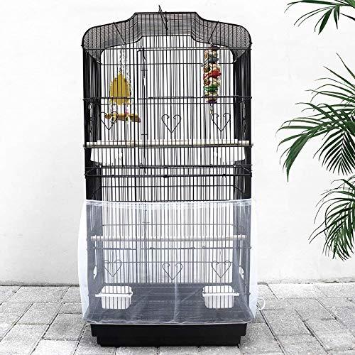 NXL 2 Piezas Funda para Jaula Pájaro Aves Guardia Protector Falda De Jaula Pájaro Colector De Semillas Alimentos Malla 95-190 * 33 Cm / 37,4-74,8 * 12,99 Pulgadas