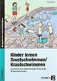 Kinder lernen Brustschwimmen / Kraulschwimmen