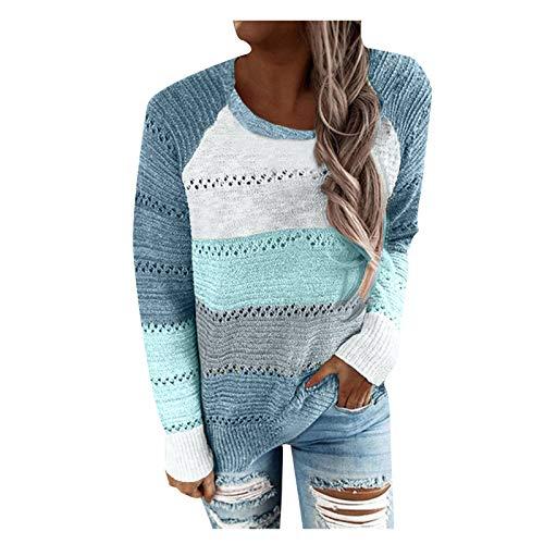 Berimaterry Suéter de Punto de talla grande camiseta personalizada moda pullover de Acolchado ropa de mujer otoño Jerséis manga larga Suelta blusas elegantes para mujer top sweater v-cuello blusa