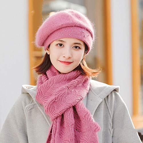 GFDFD Otoño Invierno Sombrero de Mujer Gorras de Punto Bufanda Caliente Gruesa a Prueba de Viento múltiples Funcional Funcional Bufanda para Las Mujeres