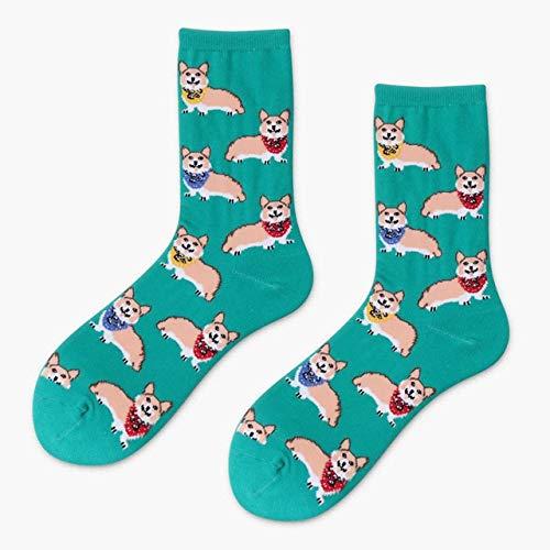 Gran Oferta, Calcetines Coloridos de algodón para Mujer, Divertidos Calcetines con diseño de Gato y plátano, Calcetines creativos para Mujer, Novedad para Regalos - XJCW-6