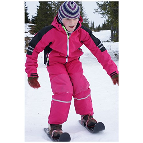 Sci per bambini per pratica, tecnica e allenamento - usati dalla Federazione USA di combinata nordica - adatti a qualsiasi tipo di scarpa/scarpone, per bambini e ragazzi dai 3 anni in su (Nero)