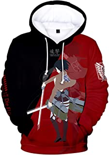 Men's AOT Hoodie Attack On Titan Hoodies Two Colors 3D Print Fashion Sweatshirt