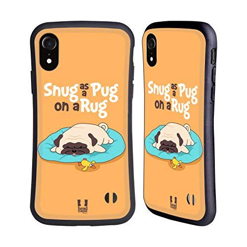 Head Case Designs Stare Comodi Piper Il Pug Cover Ibrida Compatibile con Apple iPhone XR