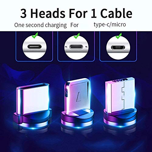 Cabriza SD12E Multi Pins Charging Cables 3 in 1 Magnet Head Data Cable Supported with All iOS, Android & Other Devices