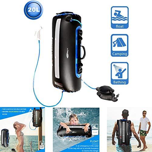 N/Y 5 Gallon Camping Solar Shower Bag,20L Portable Outdoor Solar Shower Bag,Solar...