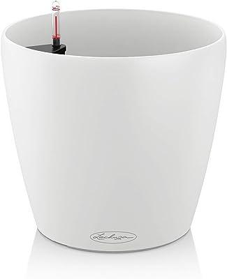 Lechuza - Classico, Vaso con Sistema di Auto-irrigazione, Colore: Bianco, 28 cm
