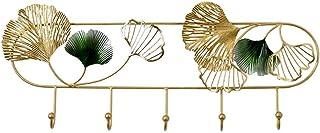 Estilo escandinavo Creativo Ginkgo Diseño de hojas detrás de la puerta de la puerta Estante de entrada colgante para la sa...