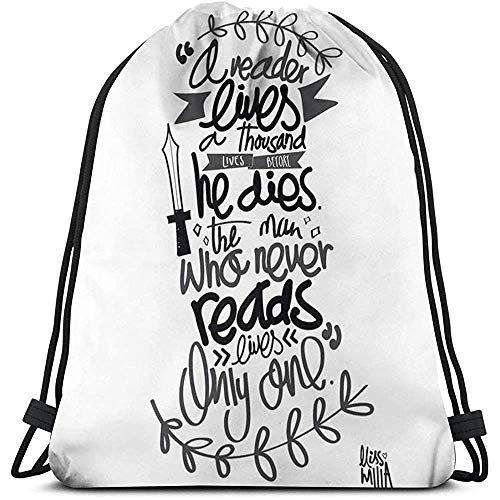 Niet van toepassing Cinch Tassen Een lied Van Ijs En Vuur Citaat Sport Trekkoord Rugzak Reizen Casual Cinch Tassen Fitness Bag Gift Print Laptop Universele School