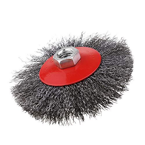 1er Drahtbürsten Schleifbürsten 115mm für Einhand Winkelschleifer Stahldraht, ideal zum Entrosten